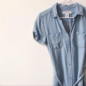 H&M • Chambray Button Down Dress